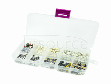 10 types 250 each 25 6x6 button switch patch switch button switch box kit
