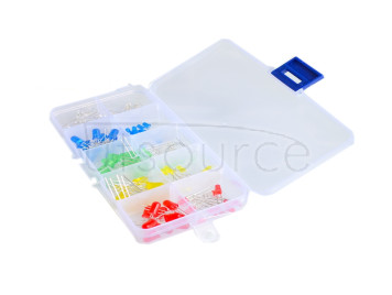 Red, yellow, green, white, blue, 5 colors each 10/100 LED light classification box set single 3mm 500