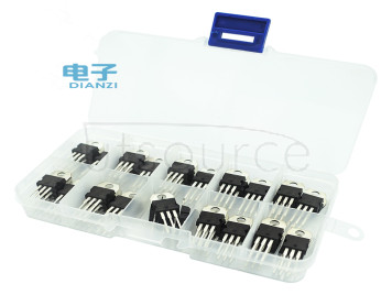 Ten kinds of 50 L7805/7806/7812/7824 / LM317 three-terminal voltage regulator tube category box suite