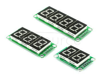 74HC595 static drive 2-segment digital display module can be seamlessly connected in series 0.5 inch 3-bit bright red