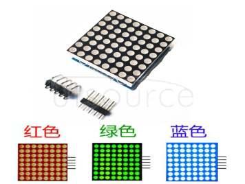 MAX7219 dot matrix module control module MCU control drive LED display module blue