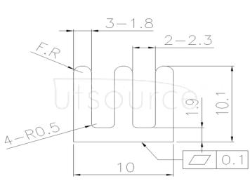Chip heat sink Aluminum slotted black heat sink 10*10*10mm Aluminum profile heat sink Aluminum block (10pcs)