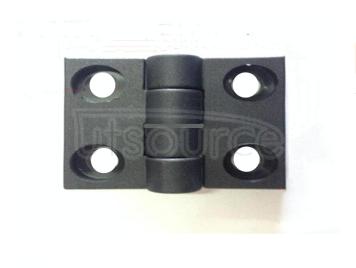 Black Plastic Nylon Hinge Thicken Shipping Industrial Hinge Electric Cabinet Box Aluminum Profile Fitting ABS Engineering Plastics (4pcs)