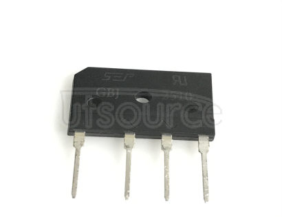GBJ2510 Bridge Rectifier - GBJ Series The GBJ series are glass passivated bridge rectifiers with a forward current that ranges from 6 A to 50 A and 600 V or 1000 VRRM. The HY Electronic (Cayman) Limited rectifier has a PRV rating of 1000 V and the plastic material have UL flammability classification. It ca