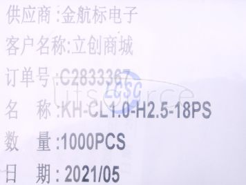 Shenzhen Kinghelm Elec KH-CL1.0-H2.5-18PS(23pcs)