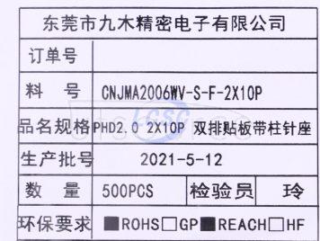 CNJM CNJMA2006WV-S-F-2X10P(5pcs)
