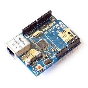 The new Ethernet W5100 network extension board SD card extension