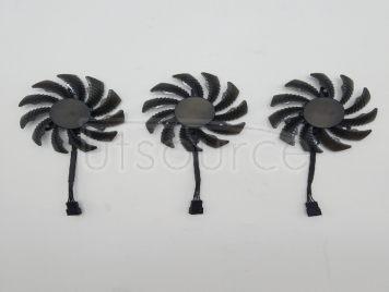 GIGABYTE GTX970 760 1070 1080 Four-pin temperature control P104-100 graphics card universal ball fan <1pcs>
