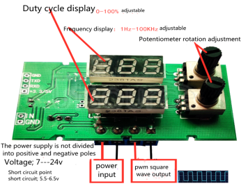 PWM square wave rectangular wave duty cycle signal generator stepper motor drive module adjustable pulse