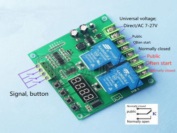 12v 24v motor forward and reverse controller two dual circuit timing cycle delay relay module