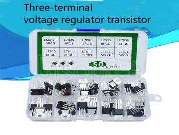 Boxed 78L05-79L15 three-terminal regulator tube TO-92 in-line transistor set <50pcs>