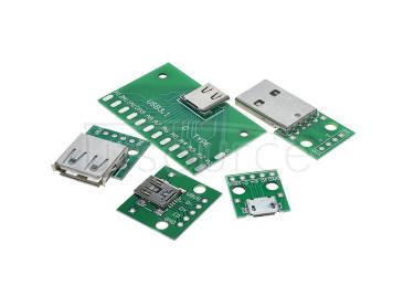 USB to 2.0 3.0 Female/Male MICRO Straight Plug Adapter Board<5PCS>