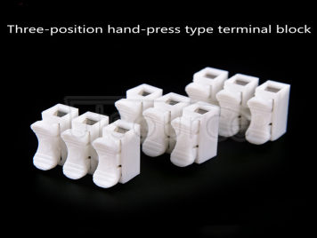 Three-in-three-out quick terminal blockLED lighting terminal connector three-position wire connector push-type quick terminal block (10pcs)