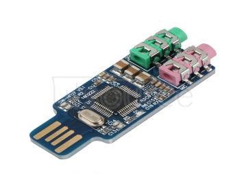 Notebook computer driver-free USB external sound card CM108 chip external sound card module headset plug and play