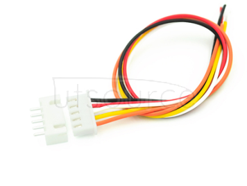 Xh2.54-5p with wire head single head wire with straight pin socket length 20CM 26# line