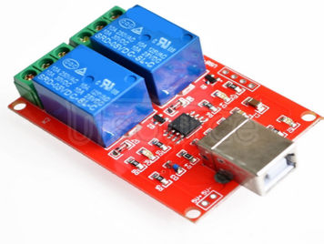 Free drive/usb control switch/2 way 5V relay module/computer control switch/PC intelligent contro